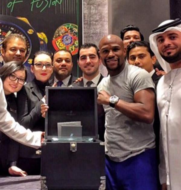 Floyd Mayweather's $1.1 Million Diamond Watch Bought In Dubai