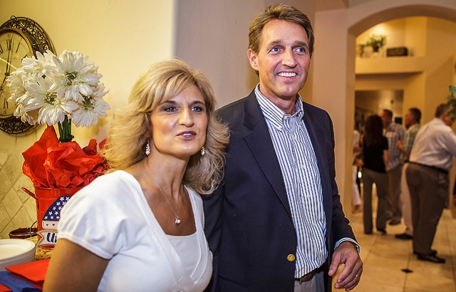 Cheryl Flake and Jeff Flake