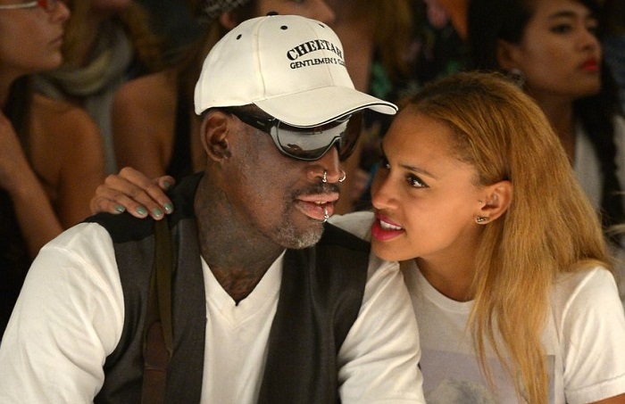 Dennis and his daughter Alexi Rodman