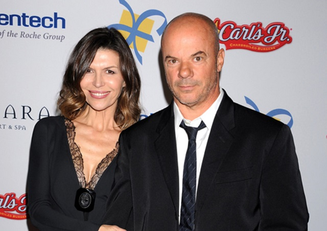 Finola Hughes and Russell Young