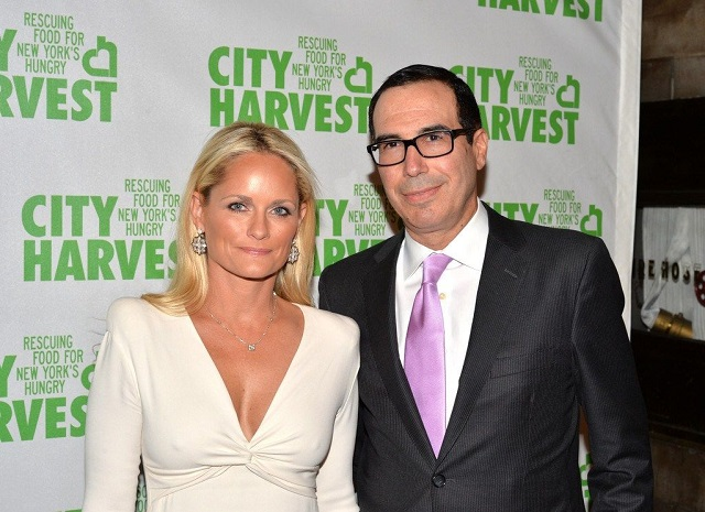 Heather Deforest Crosby and Steven Mnuchin