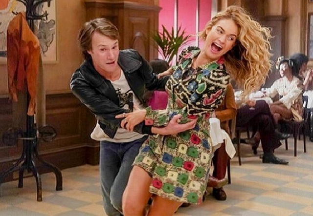 Hugh Skinner and Lily James in Mamma Mia! Here We Go Again