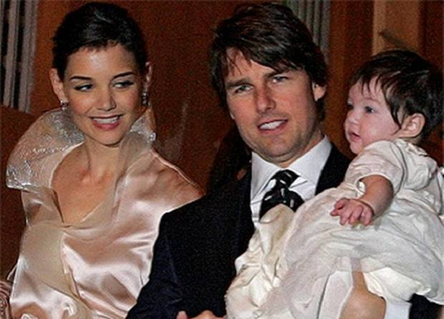 Katie Holmes and Tom Cruise with their daughter