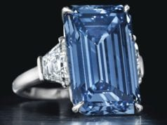 most expensive diamond to sell at auction Oppenheimer Blue Diamond