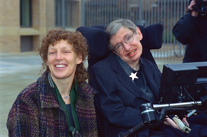 Stephen Hawking and his second wife Elaine