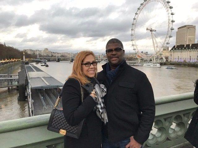 Charles Payne met lieve, vrouw Yvonne Payne